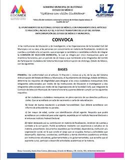 CONVOCATORIA COMISIÓN DE SELECCIÓN